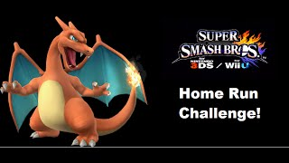 Smash Bros Wii U Challenge - Charizard in Home-Run Contest Without Using the Bat