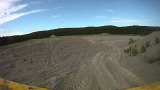 can am renegade 800 huge hill climbs sand pit 800=mad power  hero go pro cam