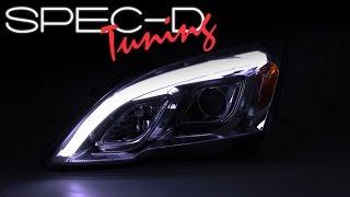 SPECDTUNING DEMO VIDEO: 2007-2011 HONDA CRV DRL LED PROJECTOR HEADLIGHT