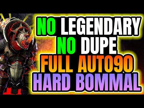 INCREDIBLE Full Auto HARD 90 Dreadhorn Bommal Doom Tower Team I Raid Shadow Legends