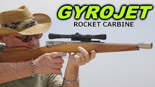 Shooting the space-age  MBA Gyrojet ROCKET Carbine - Sneak Preview!