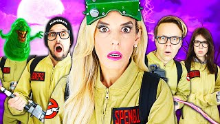 Giant Ghostbusters Game in Real Life to Trap Real Ghost!   Rebecca Zamolo