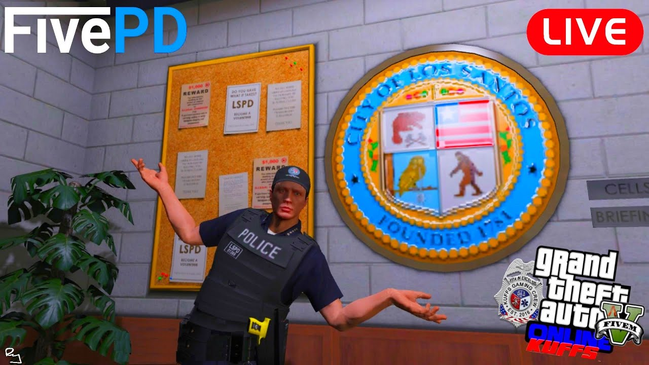 Ry Wilson - LIVE: GTA 5 FiveM Kuffs Roleplay: FivePD (This Ain't your Dad's LSPDFR Bro)
