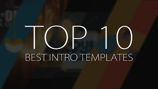 Top 10 Best Motion Graphics INTRO Templates(April 2017) : Free : After Effects