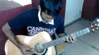 Iron Maiden Hallowed be Thy Name acoustic guitar cover