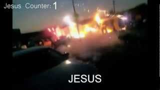 Black Jesus of New Years Day 2012- firework disaster