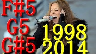 Mariah Carey F#5 - G#5 LIVE notes AFTER PRIME (1998-2014)