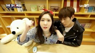 [ENG SUB] KNK Heejun & DIA Seunghee - The Show 160322 (Eric Nam, EXO, Zhoumi etc)