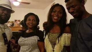 Kwaku Manu and Kyeiwaaa spoiled everywhere at the birthday party at Webster, USA