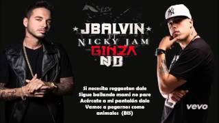 Karaoke Ginza   J Balvin Ft Nicky Jam Oficial TheBillyBoy Lyric   Letra