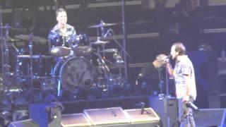Eddie Vedder Presenting a Toast to Matt Cameron on this Drummer's Throne