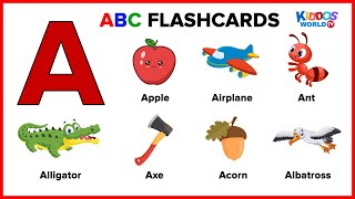 ABC Flashcards for Toddlers - Learning First Words - Teaching Alphabet for Kids