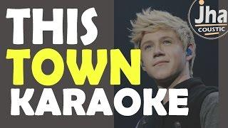 Niall Horan - This Town (Live, 1 Mic 1 Take) [ Karaoke Acoustic ]