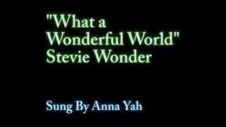 What a Wonderful World - Stevie Wonder - Acapella cover by Anna Yah