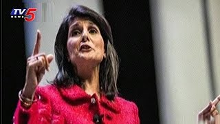 Indo American Nikki Haley Sensational Comments | TV5 News