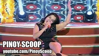 Charito Miguel, 'Stars On 45' Contestant On 'It's Showtime' Falls Off Stage