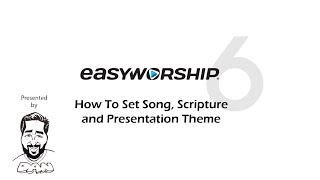 How To Set A Song, Scripture and Presentation Theme