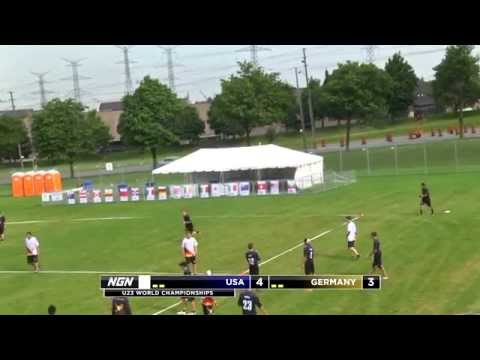 Video Thumbnail: 2013 WFDF World U-23 Championships, Men's Pool Play: USA vs. Germany