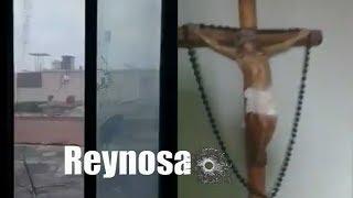 #ReynosaFolllow: Una bala perdida entra en una casa e impacta sobre un Cristo (2/06/2017)