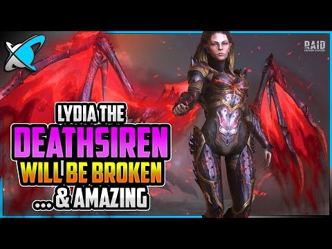 LYDIA THE DEATHSIREN ...is BROKEN ..& AMAZING | Full Skills Breakdown!! | RAID: Shadow Legends
