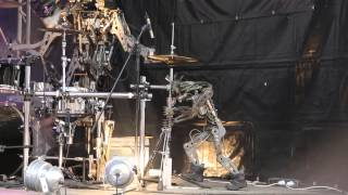 Compressorhead - Iron Man (Black Sabbath Cover) (live in Moscow, Russia)