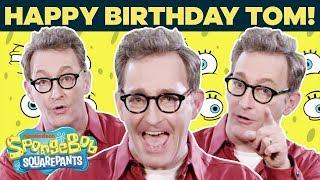 Tom Kenny (Voice of SpongeBob) Talks Fan-Favorite Lines IRL 🎂 Happy Birthday!   SpongeBob