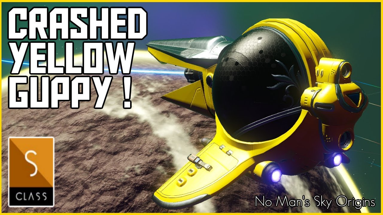 Manic Miners - No Man's Sky Origins - Crashed Yellow Guppy Exotic - Finding Exotic Ships in No Sky Origins 2020