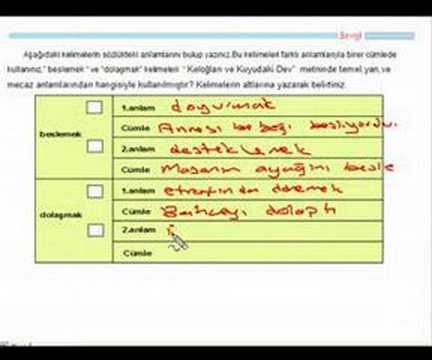 Tutmabeni.com 6. sınıf örnek Türkçe Ders Konu Anlatımı