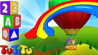 TuTiTu Pré-escolar | Aprender de cores em Inglês para Crianças | Balão de Ar Quente