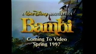 BAMBI MOVIE TRAILER [VHS] 1942/1996