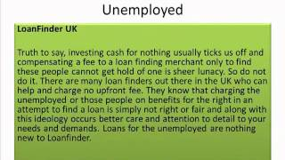 Loans for people on benefits and the unemployed