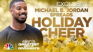 Michael B. Jordan Brings a Community Joy - Ellen's Greatest Night of Giveaways