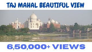 Okha- Varanasi Express Departs Agra Fort Station And View Of The Taj Mahal width=