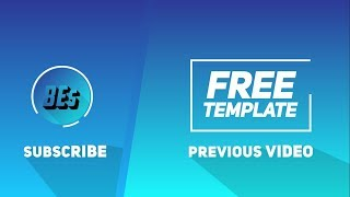 FREE ! 2D Outro / Endscreen  Template | Full HD / 4K   | No Text | Any Software | #7