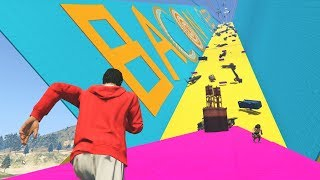 16 PLAYER AVALANCHE DEATH RUN!  - GTA 5 Funny Moments #696 width=