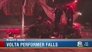 Volta performer falls