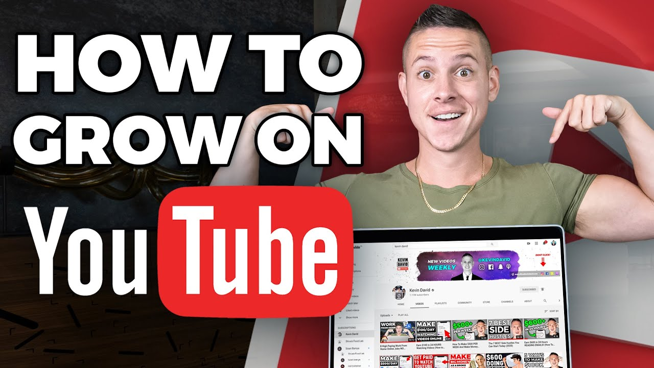 How To Grow Your YouTube Channel With 0 Views and 0 Subscribers! (Make Money Online!)
