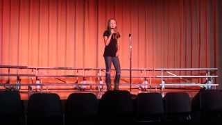 """12 year old Liliana singing """"Blown Away"""" by Carrie Underwood"""