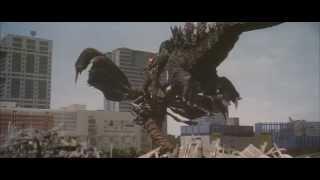 Godzilla body slam
