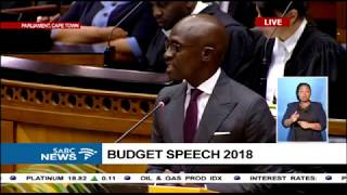 Finance Minister Malusi Gigaba's first maiden budget speech