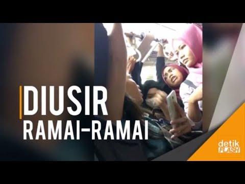 Download Video VIral Video Pelaku Pelecehan Seksual Diusir Dari KRL