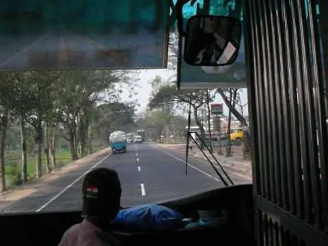 Bus Ride In Bangladesh: From Cittagon to Dhaka  バングラデシュ:バスの旅