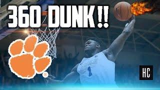 Zion Williamson MONSTER 360 DUNK 😱🔥💪 Duke vs. Clemson 2019 ᴴᴰ
