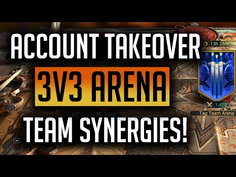 RAID: Shadow Legends | 3v3 Arena Account Takeover! How to choose teams with synergies!