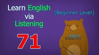 Learn English via Listening Beginner Level | Lesson 71 | My Family