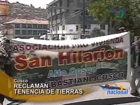 Pobladores de comunidades protestan por tenencia de tierras en Cusco