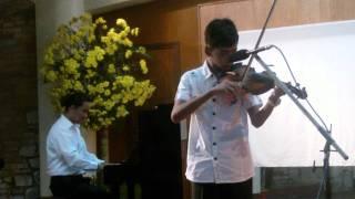 University of Sta. Isabel - Violin recital -Pat  Calisura -  Minuet by J.S Bach - suzuki bk. 1