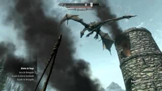 Skyrim - Lucha contra Dragón
