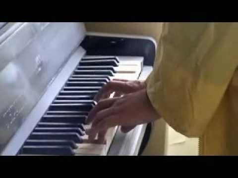 Yuri playing piano in abandoned Pripyat apartment (Chernobyl )