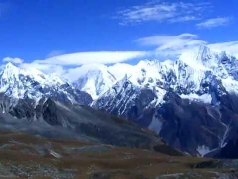 360° View of mountains from Tserko Ri (5,033m), Langtang trek, Nepal